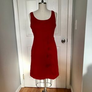 Anthropologie Red Moulinette Sœurs Bow Dress
